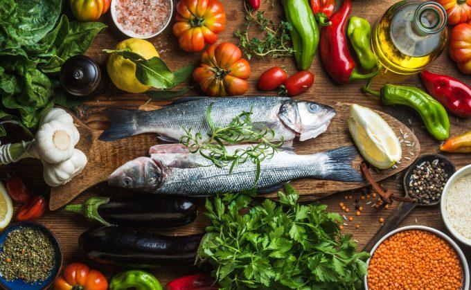 Ψάρια και λαχανικά