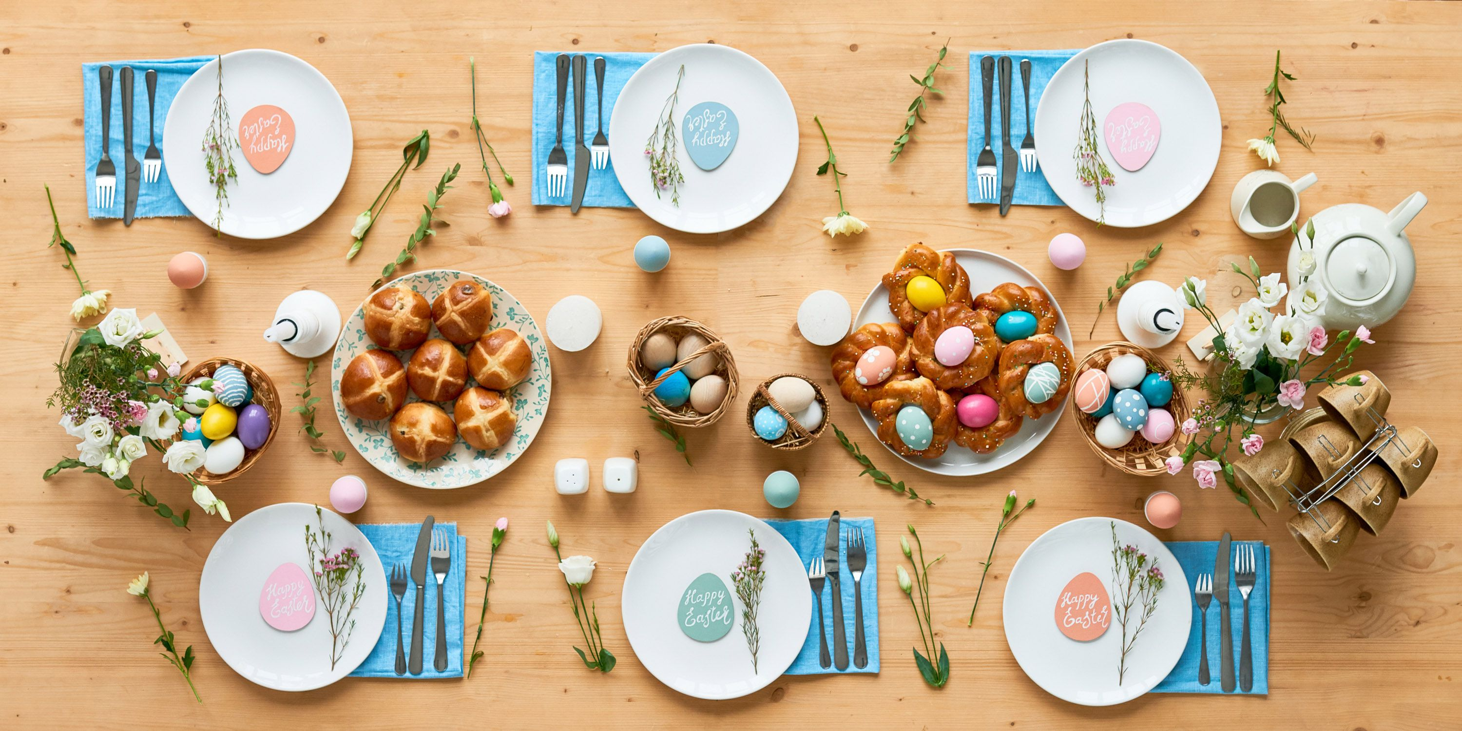 Easter colorful table setup