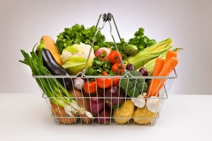 Shopping-basket-filled-with-fresh-vegetables