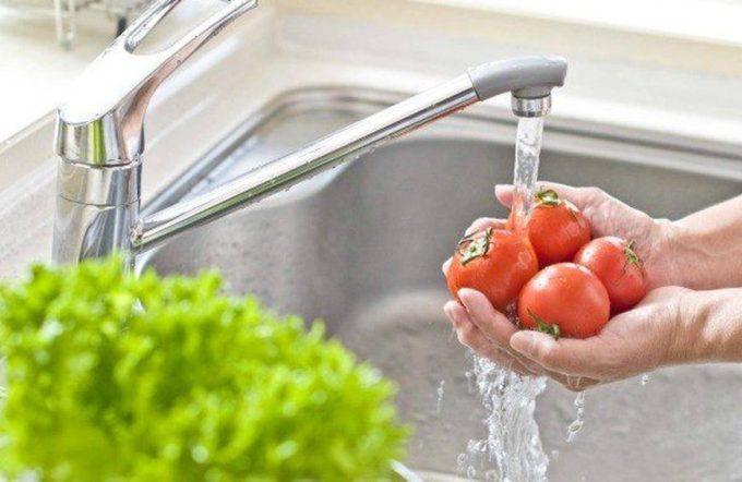 Πλύσιμο λαχανικών